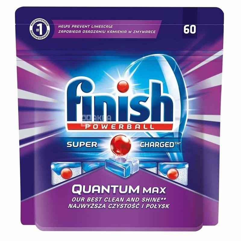 Finish Quantum Powerball Max, 60 шт., Таблетки для посудомийної машини