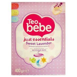 Teo bebe Lavender, Washing powder for baby clothes, 400 g, cardboard