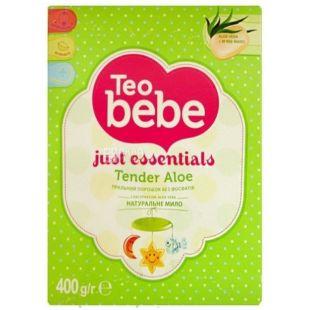 Teo bebe Алоэ, Порошок стиральный для детских вещей, 400 г, картон