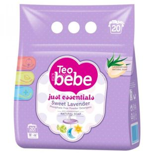 Teo bebe Lavender, Washing powder for baby clothes, 2.4 kg, m / s