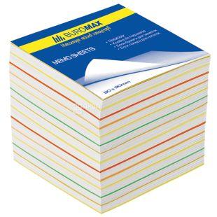 Buromax Веселка, Блок паперу різнокольорової, 90*90*70мм, плівка