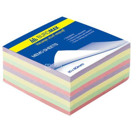 Buromax Декор, Блок паперу різнокольоровий, 80*80*30мм, плівка