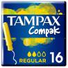 Tampax Compak Regular, Тампоны с аппликатором, 2 капли, 16 шт., картон