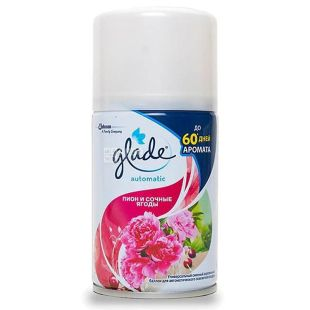 Glade Automatic, Replacement bottle, Peony and juicy berries, 269 ml