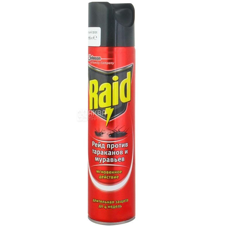 Raid, Спрей от тараканов и муравьев, 300 мл
