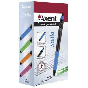Axent Stella, Ручка масляная автоматическая, синяя, упаковка 12шт