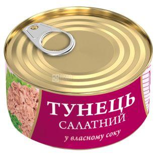 FishLine, 185 г, Консерви, Тунець, Салатний, У власному соку, ж/б