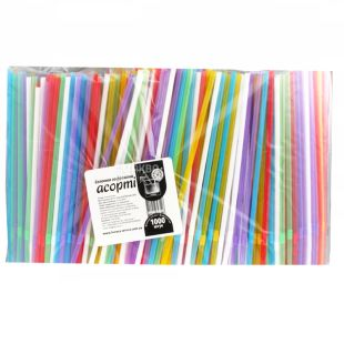 Corrugated straws, Assorted, 21 cm, Packaging 1000 pcs, TM Assistant