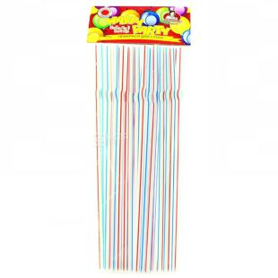 Straws for drinks, Striped, Packaging 25 pcs, TM Assistant