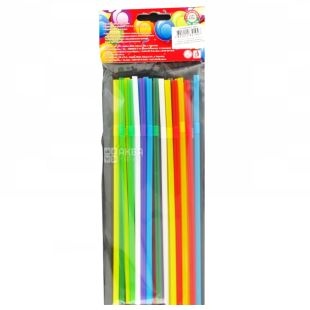 Straws for drinks, Assorted, Packaging 25 pcs, TM Assistant