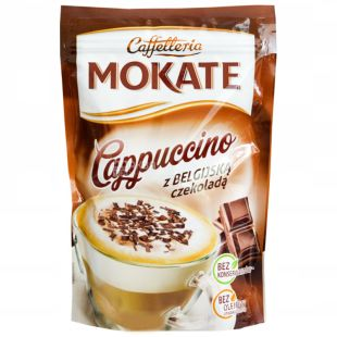 Mokate, Cappuccino with Belgian Chocolate, 110 г, Мокатэ, Капучино с бельгийским шоколадом, растворимый