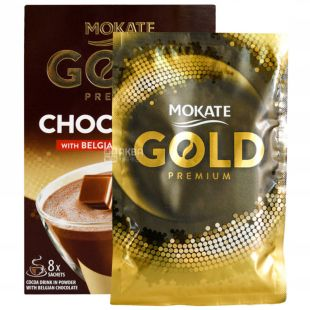 Mokate Gold Premium Choco Dream with Belgian Chocolate, Instant Chocolate Drink, 8pcs, 25g, soft package