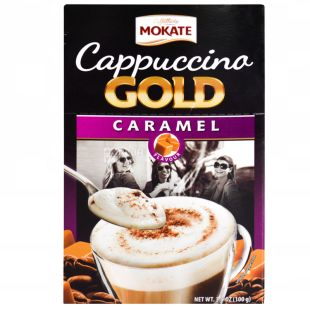 Мokate Сaffetteria Cappuccino Caramel, Капучино, 8шт, 12.5г, мягкая упаковка