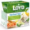 Loyd, Herbal Tea, 20 пак., Чай Лойд, Трав'яний з лимоном, липою і медом