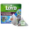 Loyd, Blackberry and Blueberry, 20 пак., Чай Лойд, Чорниця і Ожина, фруктовий