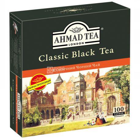Ahmad Tea Classic Black, 100 пак. по 2 г, Черный чай Ахмад Ти Классик Блек