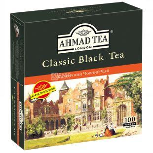 Ahmad Tea Classic, Черный чай в пакетиках, 100шт, 2г, картонная упаковка