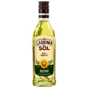 Lagrima del Sol, Sunflower oil with rosemary, 225g, glass