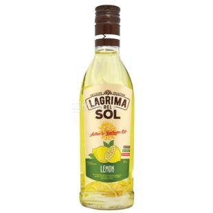 Lagrima del Sol, Масло подсолнечное с лимоном, 225г, стекло