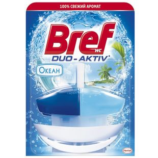 Блок для унитаза Bref Duo-activ (Бреф Дуо-актив) океан, корзинка,50 мл
