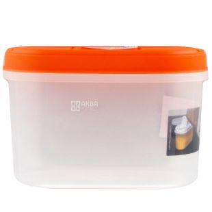 Ємність для сипучих матеріалів, Пластикова, З кришкою і клапаном, 1,1 л, ТМ Tea