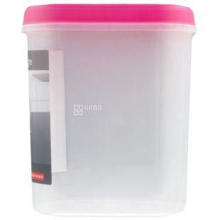 Ємність для сипучих матеріалів, Пластикова, З кришкою і клапаном, 2,2 л, ТМ Tea