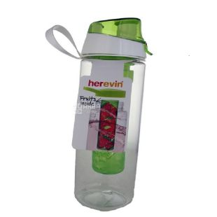 Herevin Fruit MIX, Бутылка для спорта с инфузером, 0,65 л