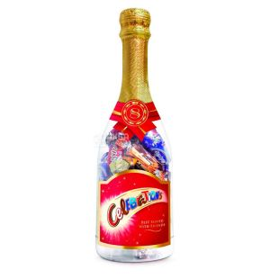 M&M's Celebrations Champagner, Набор конфет новогодний в пластиковой бутылке, 312 г