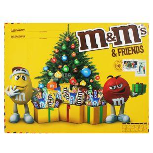 M&M's and friends Большая Бандероль, Набор конфет новогодний, 329 г, картон