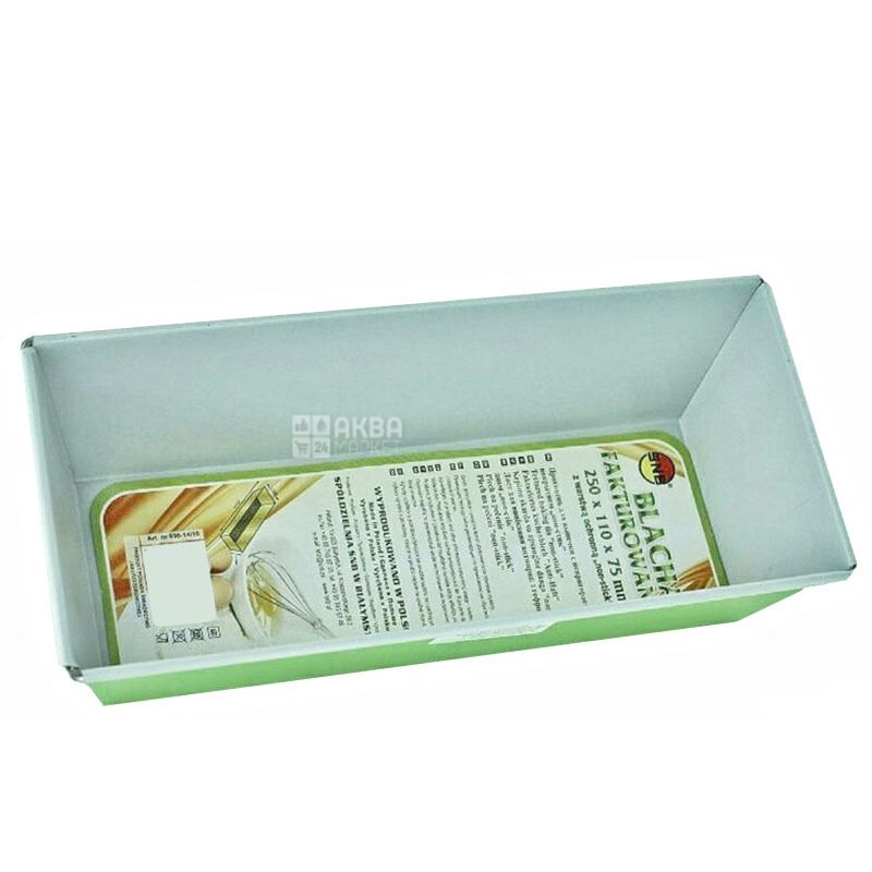 SNB, Форма для выпечки с непригораемым гофрированным покрытием, 250×110×75 мм, 1 шт