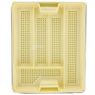 Hemoplast, Лоток пластиковий для столових приборів з піддоном, 5 відділів, 1 шт.