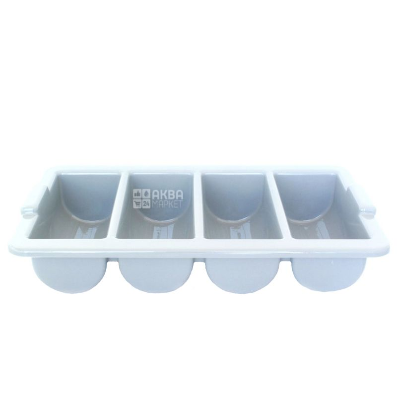 Лоток пластиковый для столовых приборов мини, 4 отделения