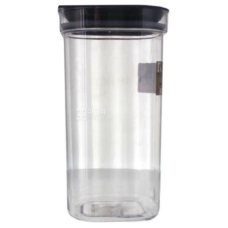 Hamburg, Емкость пластиковая для сыпучих продуктов с крышкой, 2,5 л