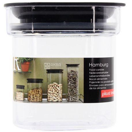 Hamburg, Емкость пластиковая для сыпучих продуктов с крышкой, 0,6 л