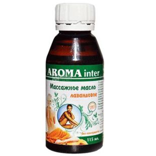 Oil for massage Aroma Inter (Aroma Inter) Lavender, 115 ml