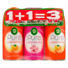 Air Wick Pure, Replacement Bottle, Set 1 + 1 = 3, 250 ml, Packaging 3 pcs.