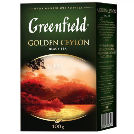Greenfield, 100 г, чай черный, Golden Ceylon