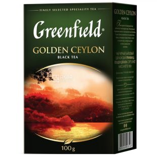 Greenfield, Golden Ceylon, 100 г, Чай Грінфілд, Голден Цейлон, чорний