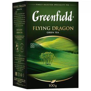 Greenfield, Flying Dragon, 100 г, Чай Гринфилд Флаин Драгон, зеленый