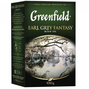 Greenfield, Earl Grey Fantasy, 100 г, Чай Грінфілд, Ерл Грей, чорний з бергамотом