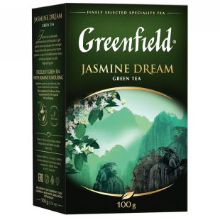 Greenfield, Jasmine Dream, 100 г, Чай Грінфілд, зелений з жасмином