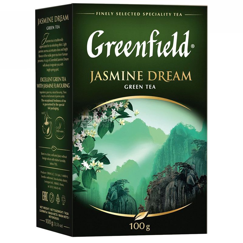 Greenfield, 100 г, чай зеленый, Jasmine Dream