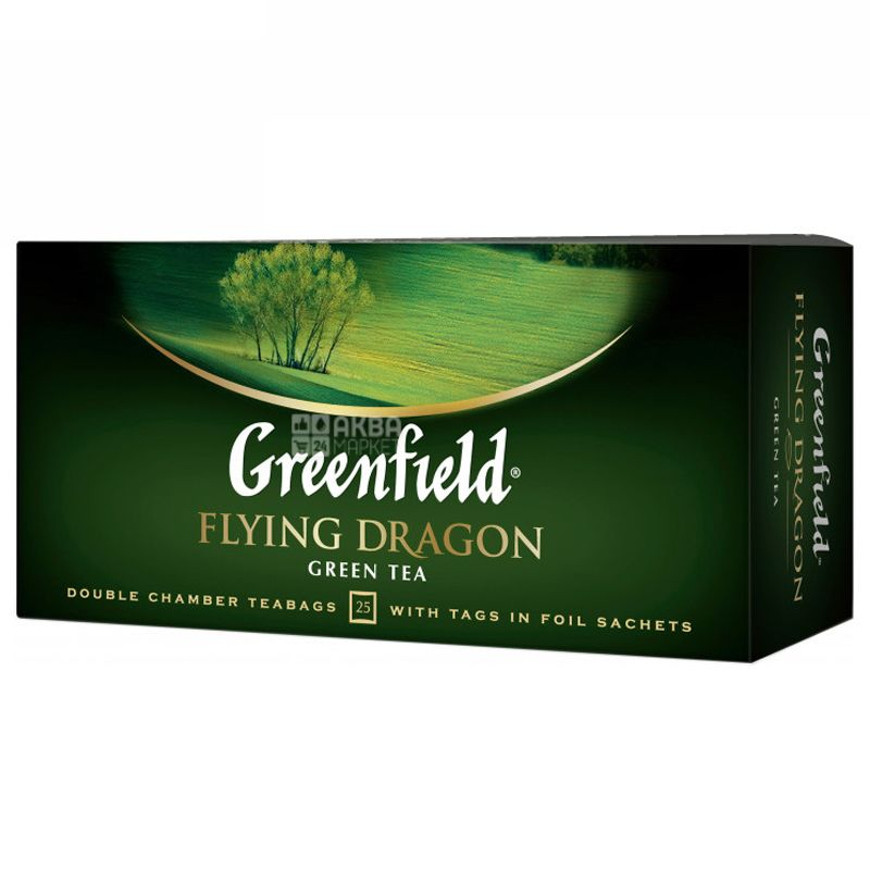 Greenfield, Flying Dragon, 25 пак., Чай Грінфілд, Флаін Драгон, зелений