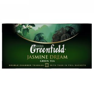 Greenfield, 25 pack., Green tea with jasmine, Jasmine Dream