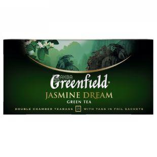 Greenfield, Jasmine Dream, 25 пак., Чай Гринфилд, зеленый с жасмином