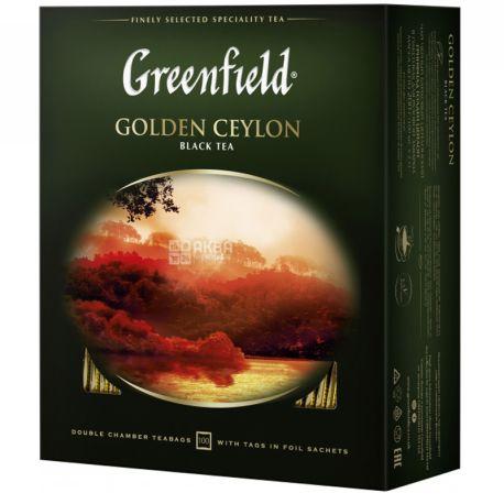 Greenfield чай черный, 100 пак. Golden Ceylon