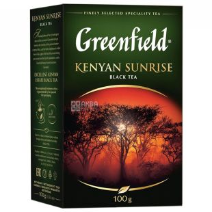 Greenfield, Kenyan Sunrise, 100г, Чай Грінфілд, Кеніан Санрайз, чорний