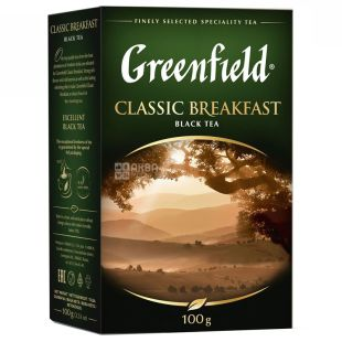 Greenfield, Classic Breakfast, 100 г, Чай Грінфілд, Класик брекфаст, чорний