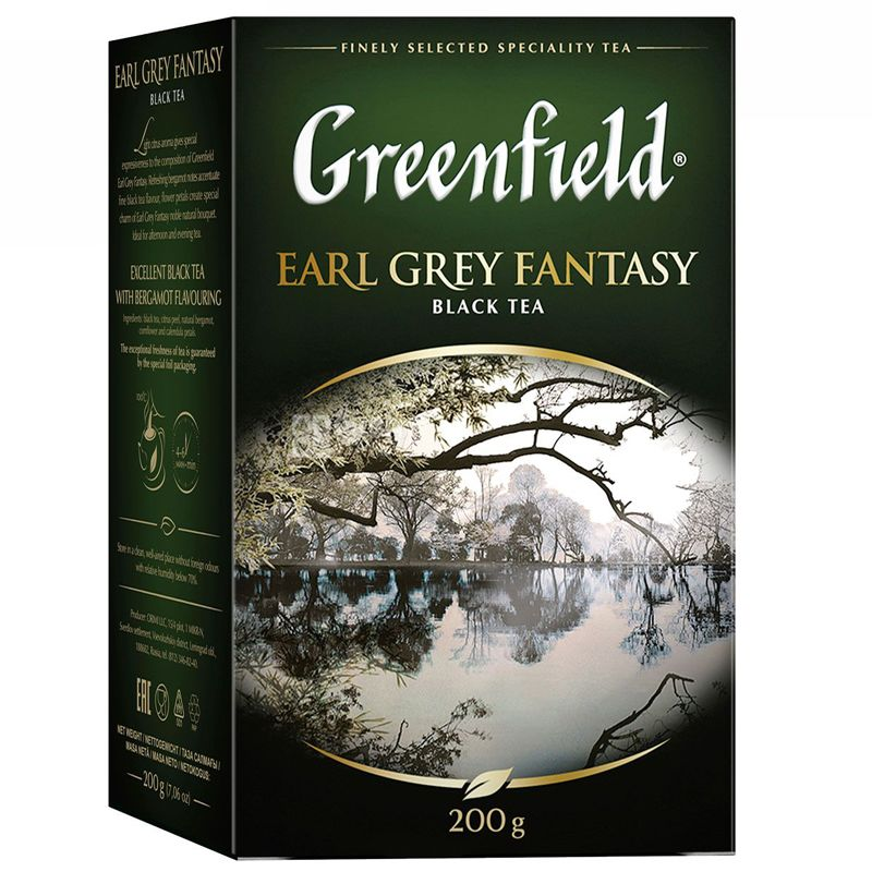 Greenfield, Earl Grey, 200 г, Чай Гринфилд, Эрл Грей , черный с бергамотом