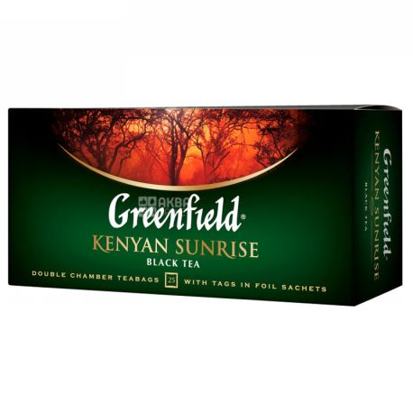 Greenfield, Kenyan Sunrise, 25 пак., Чай Грінфілд, Кеніан Санрайз чорний